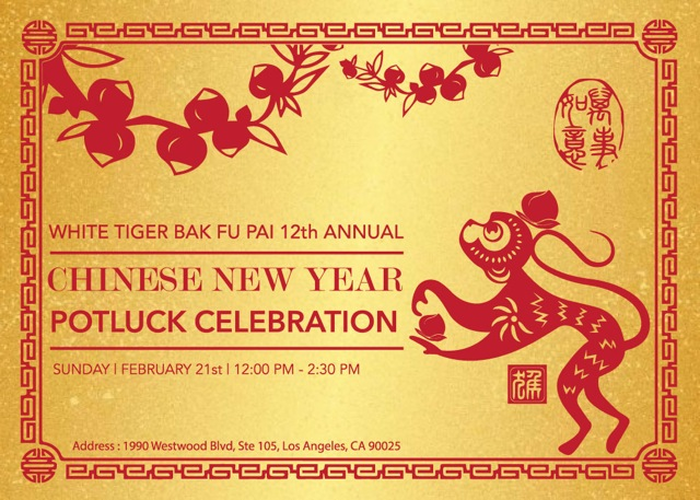 Chinese New Year 2016 Potluck Celebration